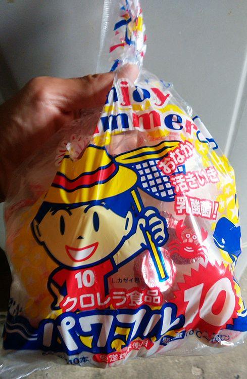 ヤクルトのパクリ?!イオン太田店でクロレラ食品のパワフル10を買ってみた