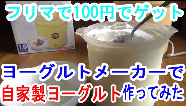 フリマで100円で買ったヨーグルトメーカーで自家製のヨーグルトを作ってみたよ!美味しい!